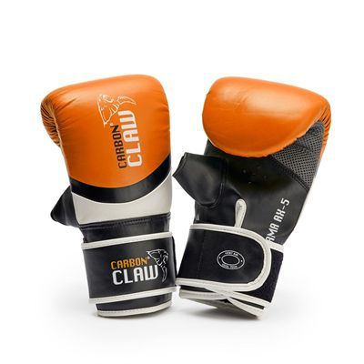 Carbon Claw Sabre TX-5 Leather Bag Mitts - Orange - New