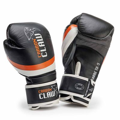 Carbon Claw Sabre TX-5 Leather Sparring Gloves - Black - New