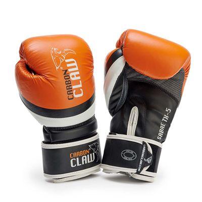 Carbon Claw Sabre TX-5 Leather Sparring Gloves - Orange - New