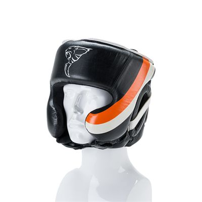 Carbon Claw Sabre TX-5 Synthetic Leather Adjustable Headguard - Front View