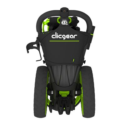 Clicgear 3.5 Golf Trolley Charcoal Lime Back