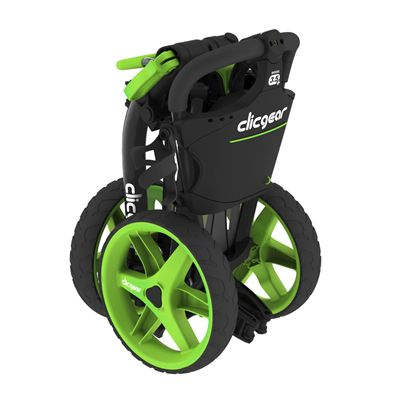 Clicgear 3.5 Golf Trolley Charcoal Lime Folded