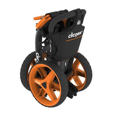 Clicgear 3.5 Golf Trolley Charcoal Orange Folded