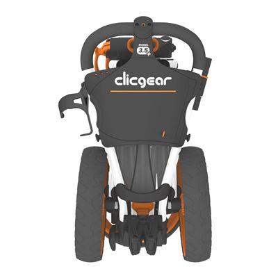 Clicgear 3.5 Golf Trolley Charcoal Orange Back
