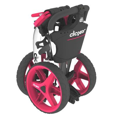 Clicgear 3.5 Golf Trolley - White/Pink - Side