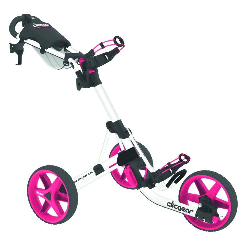 Clicgear 3.5 Plus Golf Trolley - White/Pink