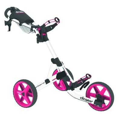 Clicgear 3.5 Golf Trolley - White/Pink
