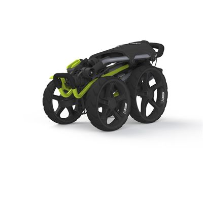 Clicgear 8.0 Golf Trolley - Silver and Lime-Folded