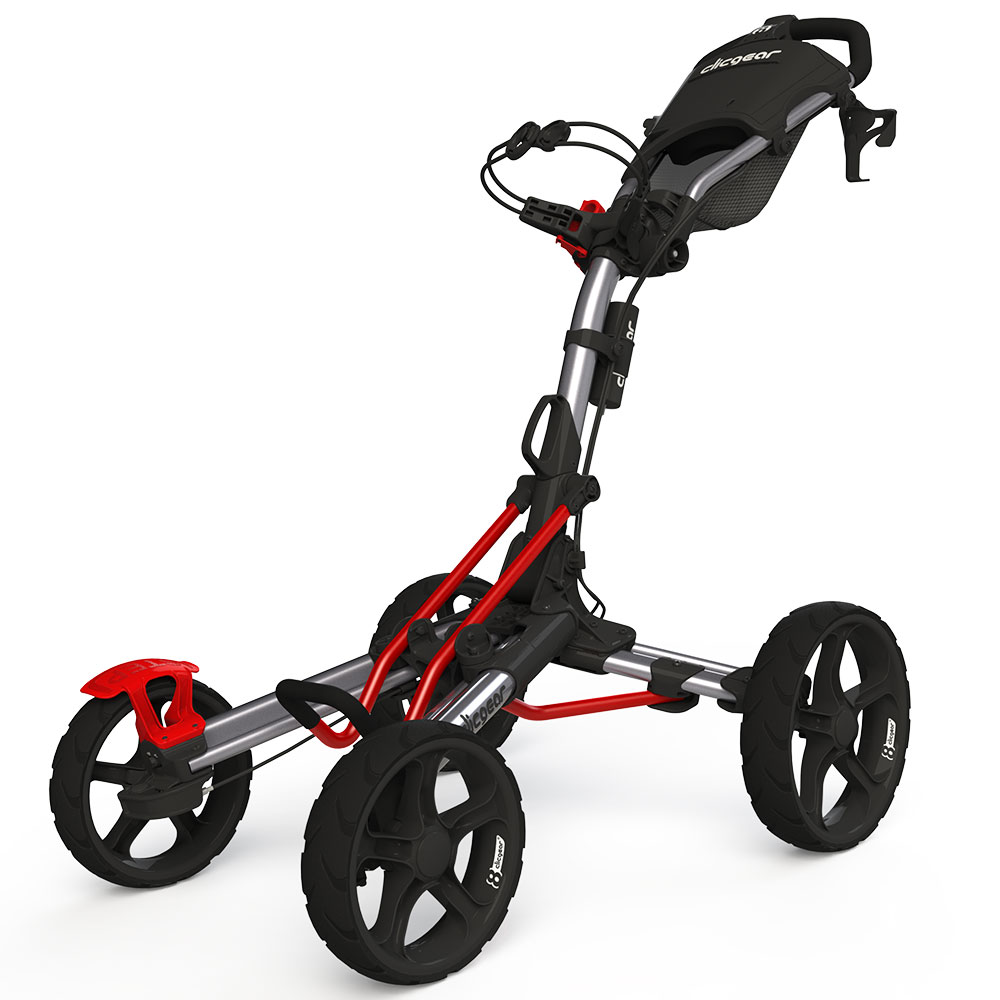 Image of Clicgear 8.0 Golf Trolley - Silver/Red