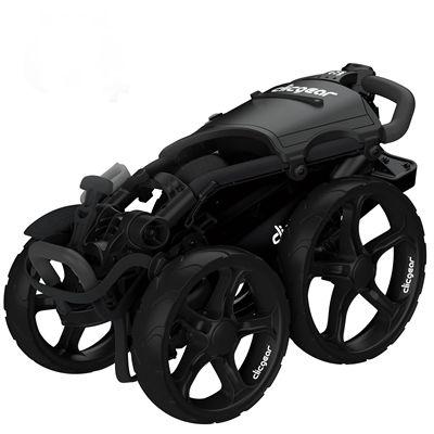 Clicgear 8.0 Plus Golf Trolley - Black - Folded