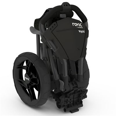 Clicgear Rovic RV1C Compact Golf Trolley 2019 - Black - Folded