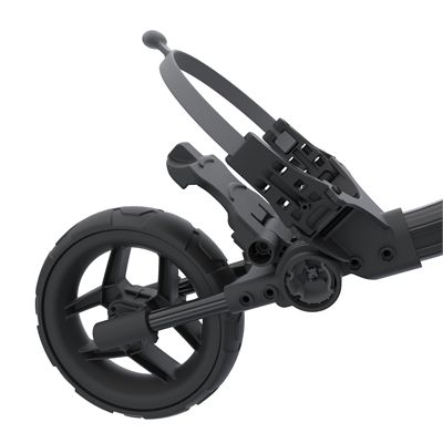 Clicgear Rovic RV1C Compact Golf Trolley 2019 - Black - Wheel