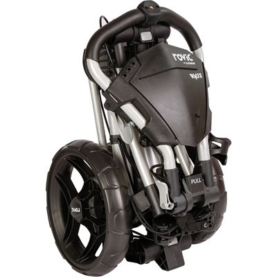 Clicgear Rovic RV1C Compact Golf Black Trolley - Black/Folded