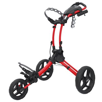 Clicgear Rovic RV1C Compact Golf Trolley - Black Red