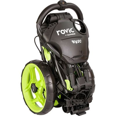 Clicgear Rovic RV1C Compact Golf Trolley - Green/Folded