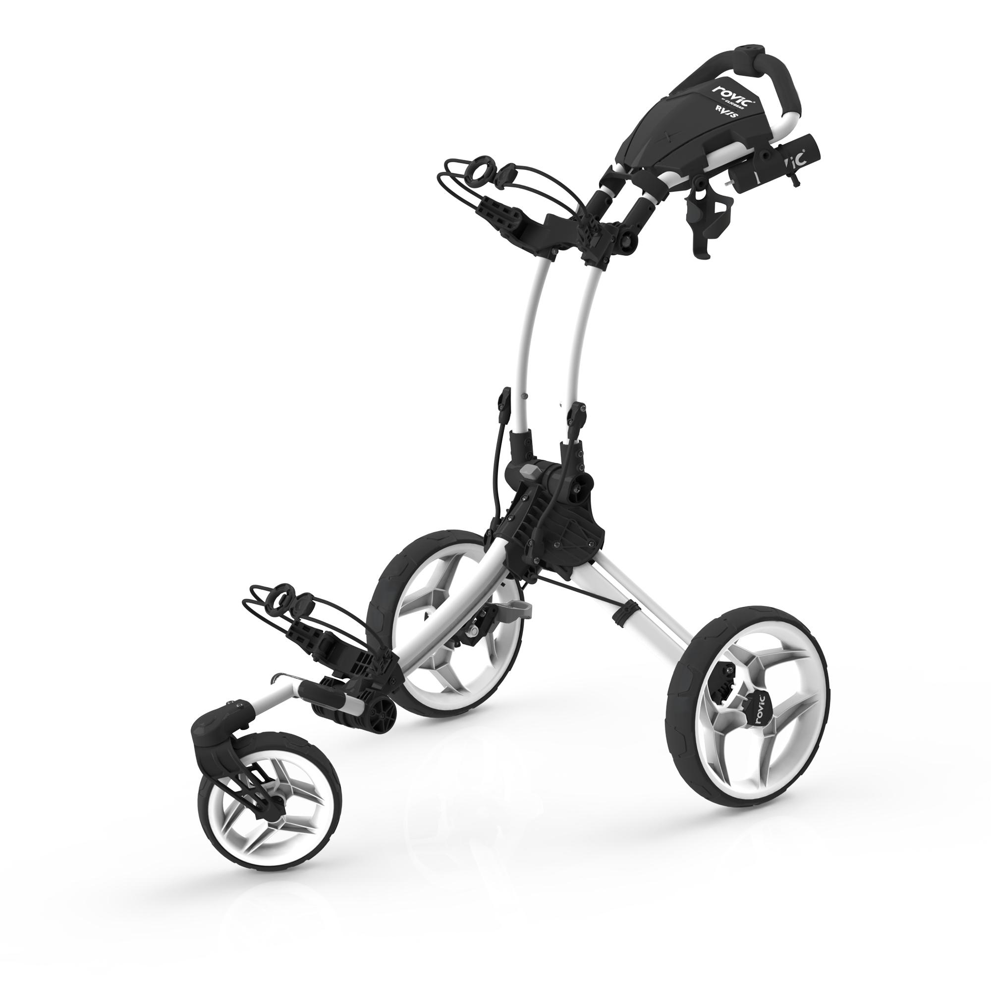 Clicgear Rovic RV1S Swivel Golf Trolley  WhiteBlack