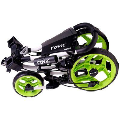 Clicgear Rovic RV2L Golf Trolley-Lime-Folded