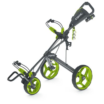 Clicgear Rovic RV3F Golf Trolley - charcoal/lime