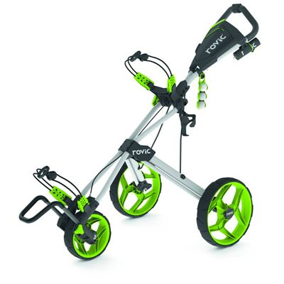 Clicgear Rovic RV3F Golf Trolley - white/lime