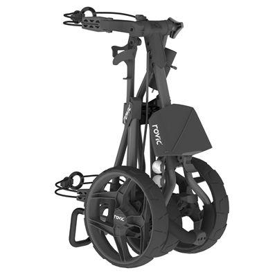 Clicgear Rovic RV3J Compact Junior Golf Trolley - Black - Side1