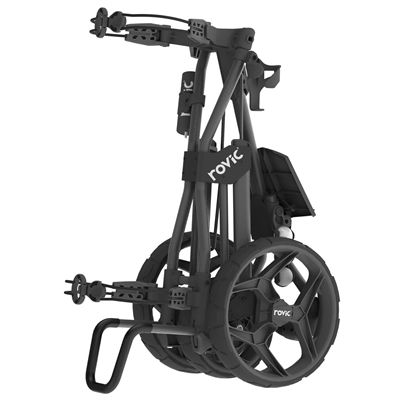 Clicgear Rovic RV3J Compact Junior Golf Trolley - Black - Side2