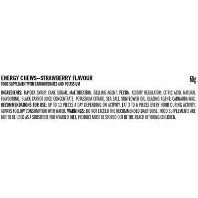 Clif Shot Blocks - Pack of 18 - ingredients strawberry