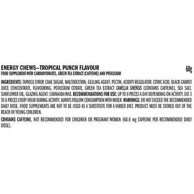 Clif Shot Blocks - Pack of 18 - ingredients tropical
