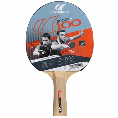 Cornilleau 100 Sport Table Tennis Bat - Box