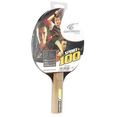 Cornilleau 100 Sport Table Tennis Bat Packed - Angle View