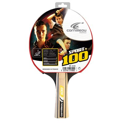 Cornilleau 100 Sport Table Tennis Bat Packed