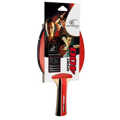 Cornilleau 400 Sport Table Tennis Bat - Pack of 4 - Side