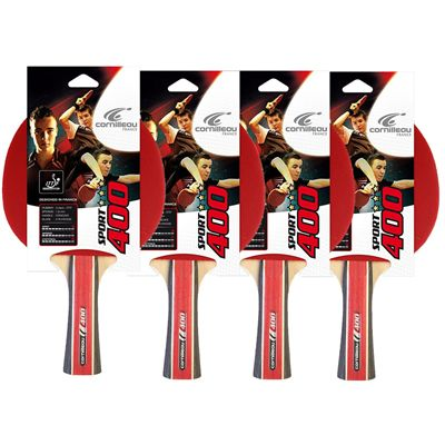 Cornilleau 400 Sport Table Tennis Bat - Pack of 4