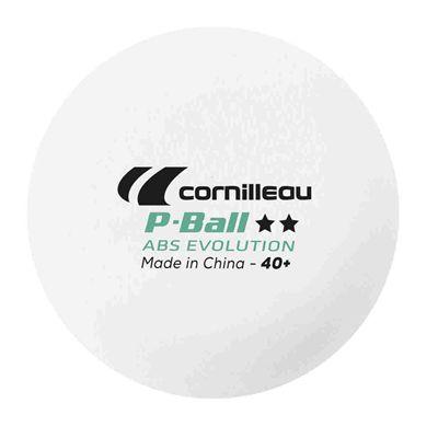 Cornilleau ABS Evolution 2 Star Plastic Table Tennis Balls - Pack of 6 - Ball