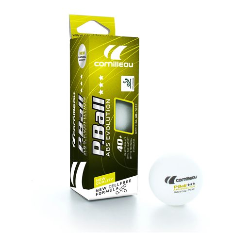 Cornilleau ABS Evolution Table Tennis Balls - Pack of 3
