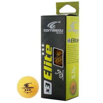 Cornilleau Elite ITTF Table Tennis Balls orange 3 balls