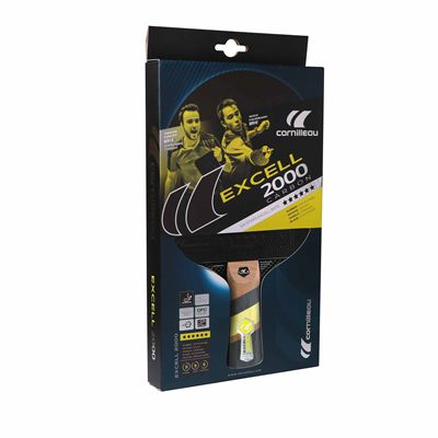 Cornilleau Excell 2000 Carbon PHS Performa 2 Table Tennis Bat - Box