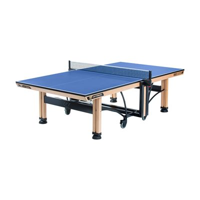 Cornilleau ITTF Competition Wood 850 Rollaway Table Tennis Table-Blue