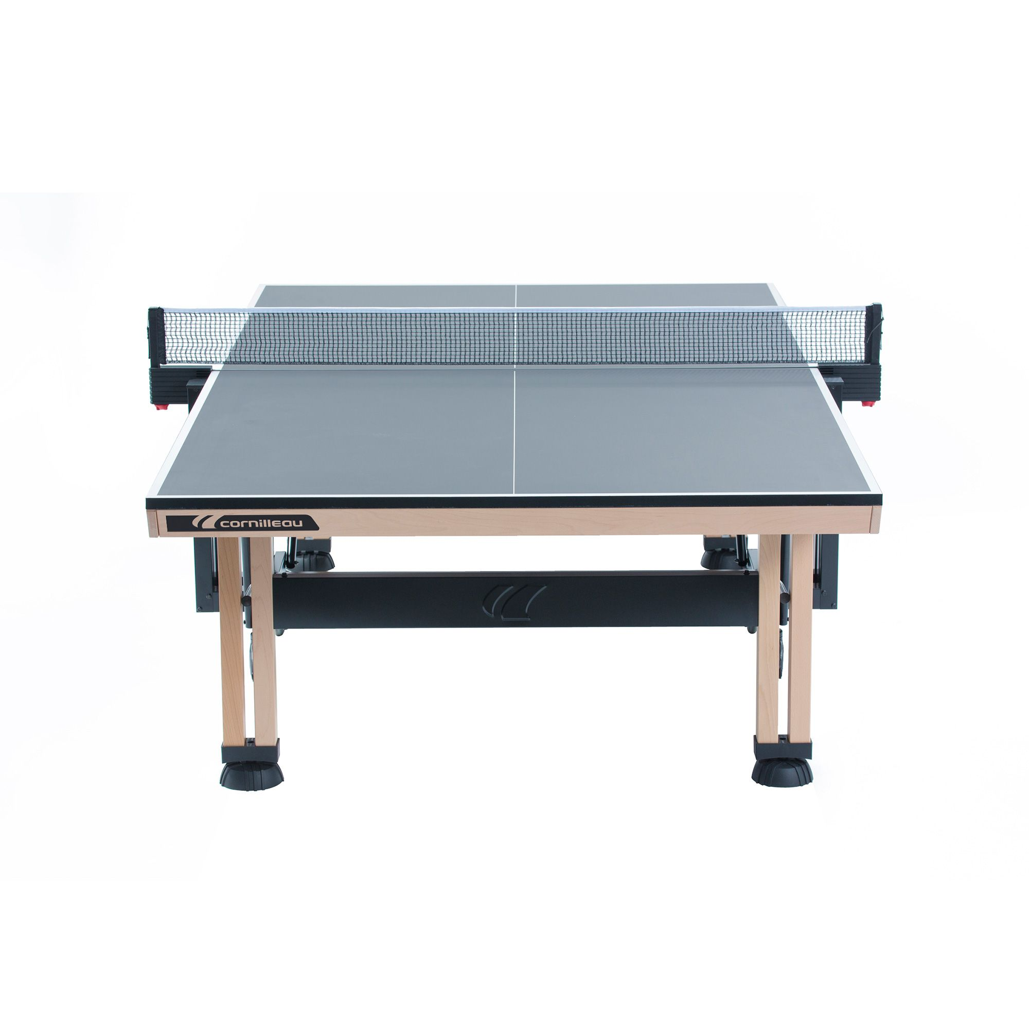 Cornilleau ittf competition wood 850 rollaway table tennis for Table 850 wood