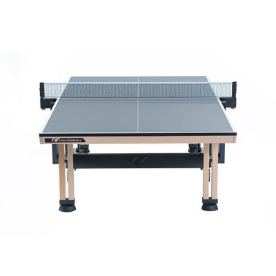Cornilleau ITTF Competition Wood 850 Rollaway Table Tennis Table-Grey-Player Side View