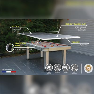 Cornilleau Outdoor Conversion Table Tennis Top - Features