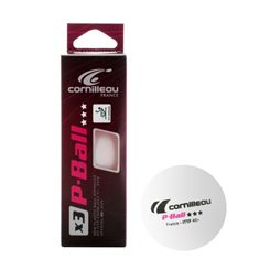 Cornilleau Poly Competition Table Tennis Balls - Pack of 3