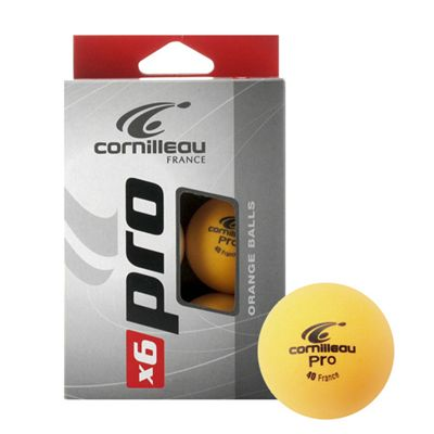Cornilleau Pro Table Tennis Balls - Pack of 6 - Orange - Main