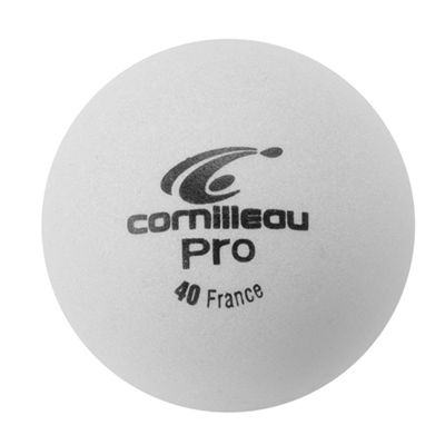 Cornilleau Pro Table Tennis Balls - Pack of 6 - White - Ball