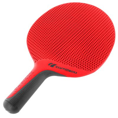 Cornilleau Softbat Eco-Design Outdoor Table Tennis Bat - Red - Angle