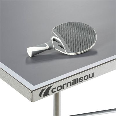 Cornilleau Sport 100S Crossover Outdoor Table Tennis Table - Grey - Playback - Grey - Corner