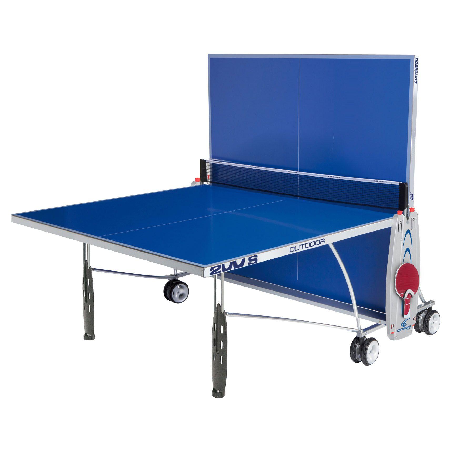 Cornilleau sport 200s rollaway outdoor table tennis table - Cornilleau outdoor table tennis cover ...