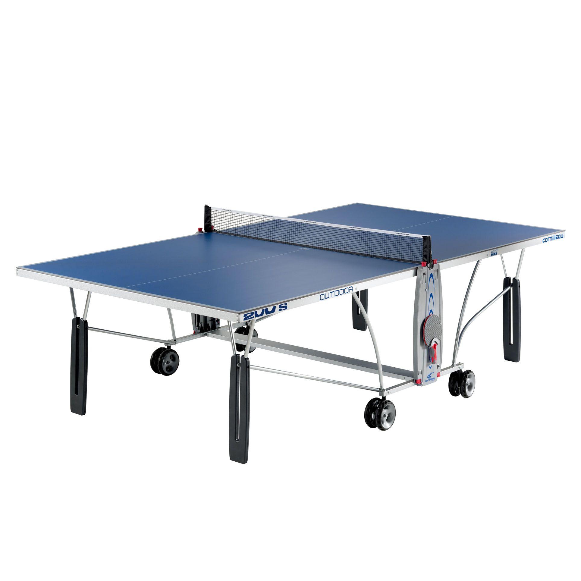 Cornilleau sport 200s rollaway outdoor table tennis table - Weatherproof table tennis table ...