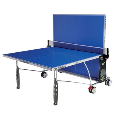 Cornilleau Sport 250S Rollaway Outdoor Table Tennis Table 2014 - Blue - Backplay