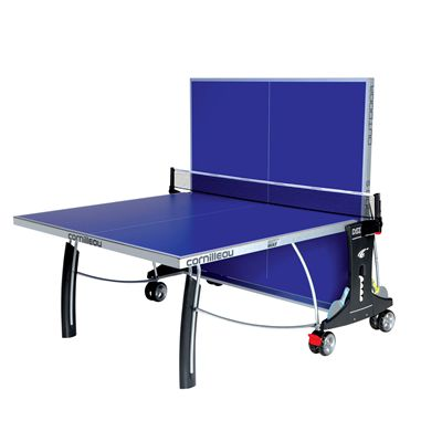 Cornilleau Sport 300S Rollaway Outdoor Table Tennis Table - Blue - Playback