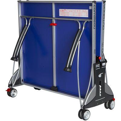 Cornilleau Sport 400M Rollaway 6mm Outdoor Table Tennis Table - Blue Folded